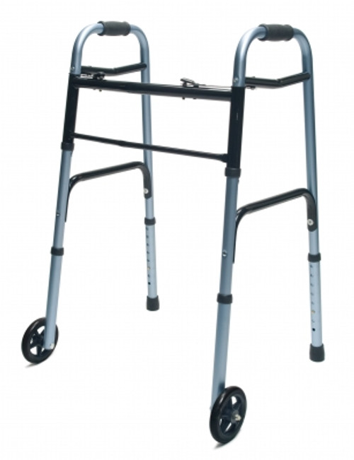 Lumex ColorSelect Adult Walker with Wheels - Blue - MainImage