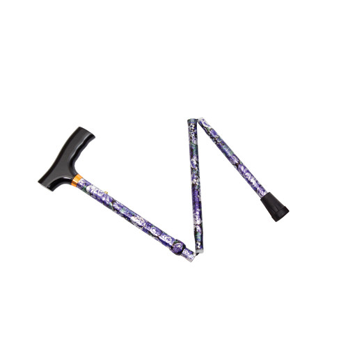Essential Medical Spring Garden Collection Demi Folding Cane - Lilac - MainImage