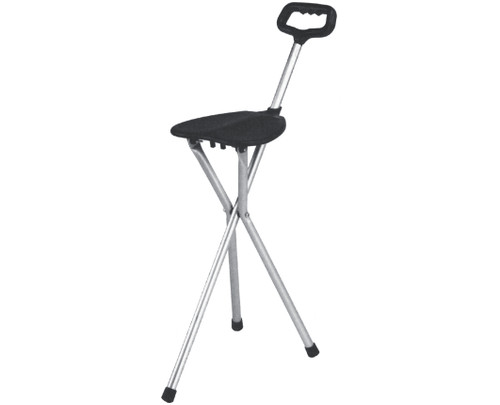 Essential Medical Three Leg Folding Seat Cane - MainImage