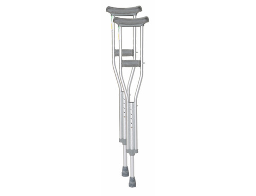 Essential Medical Endurance Aluminum Crutches with Easy Height Adjustment - MainImage