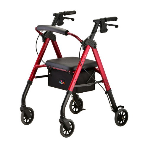 Nova New Star 6 Petite Rollator - Red - Main Image