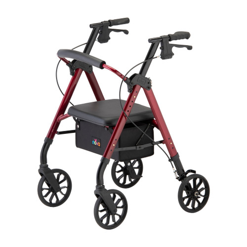 Nova New Star 8 Petite Rollator - Red - Main Image