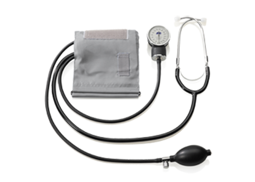 Aneroid Home Blood Pressure Kit with Attached Stethoscope