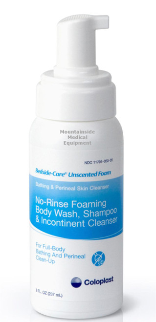 Bedside-Care Unscented Foam No-Rinse Body Wash, Shampoo & Incontinent Cleanser