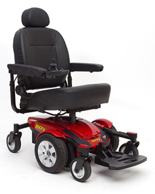 Pride Jazzy Select 6 Power Chair - Red - MainImage