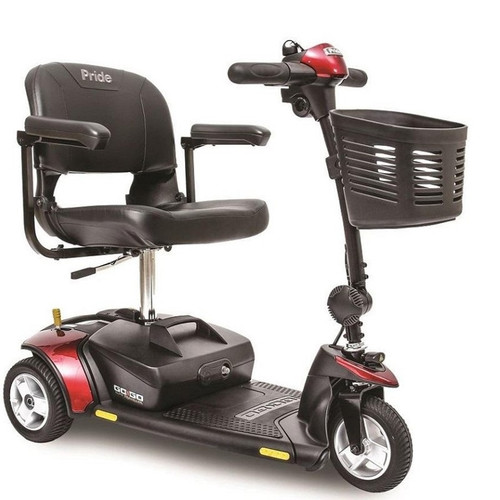 Pride Go-Go Elite Traveler 3-Wheeled Electric Scooter - Red