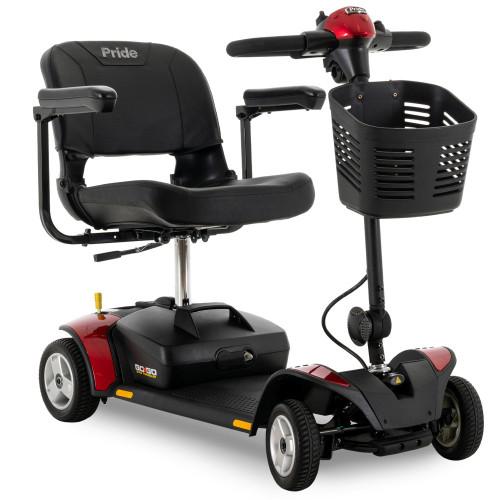 Pride Go-Go Elite Traveler 4-Wheeled Electric Scooter - Red