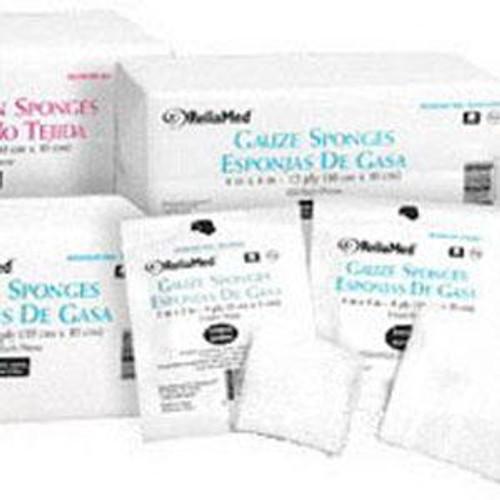 "ReliaMed Gauze Sponge 2"" x 2"", 8-Ply, Non-Sterile, Bag of 200"