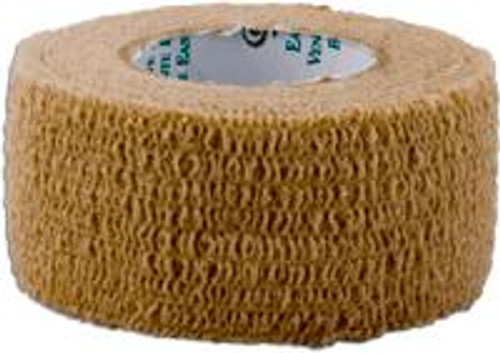 """ReliaMed Cohesive Elastic Bandage, Latex-Free, Non-Sterile 1"""" x 5 yds., Tan"""