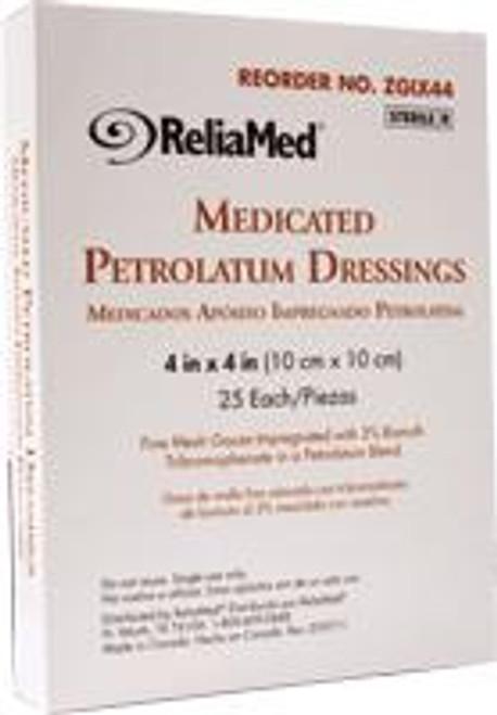 ReliaMed Medicated Petrolatum Dressing, Sterile