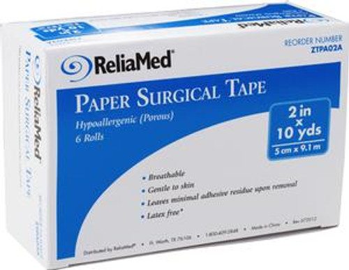 """ReliaMed 2"""" x 10 yds. Tape, Paper, Roll"""