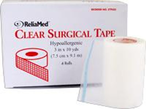 """ReliaMed 1"""" X 10 yds. Tape, Clear Plastic, Roll"""