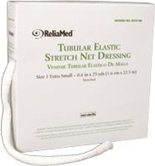 "ReliaMed Tubular Elastic Net Dressing, Size 1, 5.375"" .6"" flat measurement , Extra-Small"