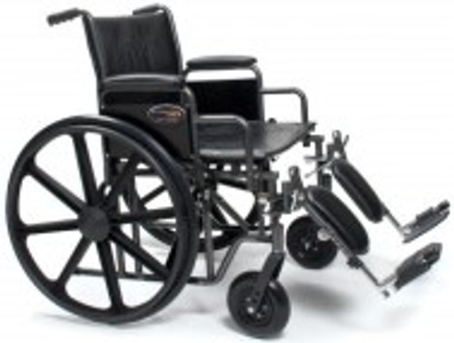 "Everest & Jennings Traveler HD Wheelchair - 22"" x 18"" of Rowlett's ACG Medical Supply"