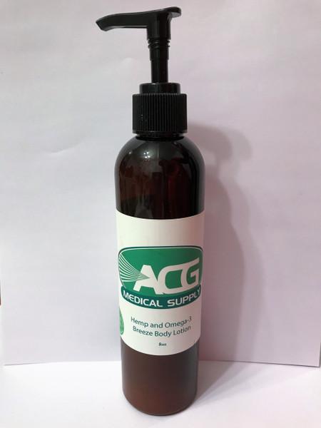 ACG Medical Supply Hemp & Omega 3 Breeze Body Lotion, 8oz.
