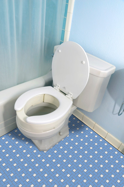 Essential Medical Hinged Toilet Seat Riser for Elongated Size Bowl - MainImage