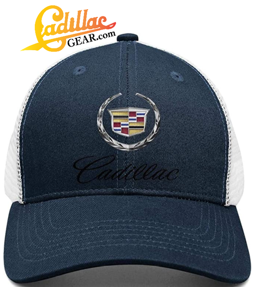 CADILLAC EMBLEM SYMBOL CAP NAVY BLUE CG192