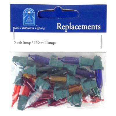 5 Volt Jumbo Multi Replacement Bulbs GKI Bethlehem