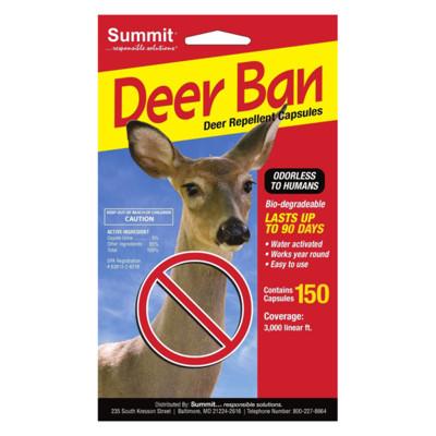 Summit Deer Ban - 150 Pack Deer Repellent Capsules