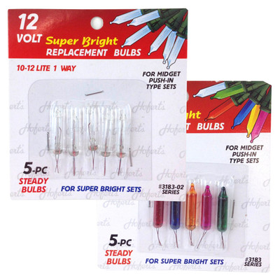12 Volt Mini Replacement Bulbs (12 volt, 80 mA, 0.96 watt)