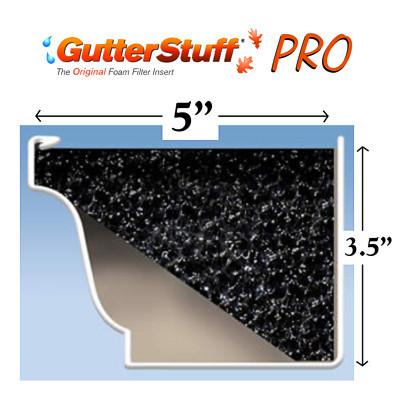"""GutterStuff Pro 5"""" Gutter Guard 4' Length"""