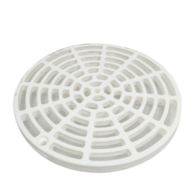 """White Plastic Floor Drain Cover - 6-1/8"""" with Tabs"""