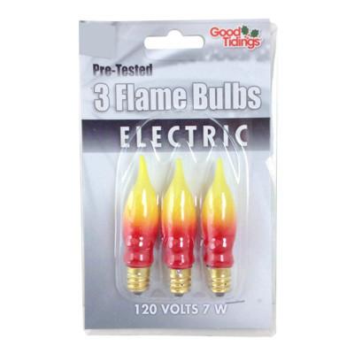 Orange Flame bulbs - 3 pack