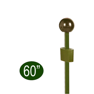 """Peacock Garden Plant Stake with Adjustable Coupler 60"""""""