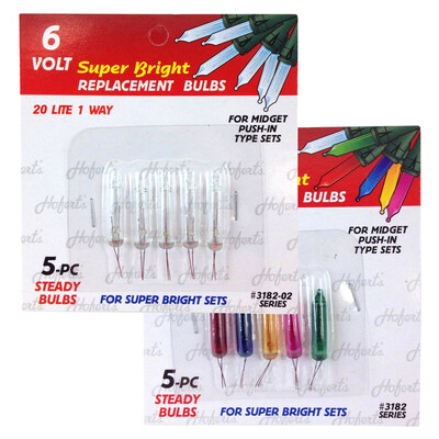 6 Volt Mini Replacement Bulbs (80 mA, 6 volt , 0.48 watt)