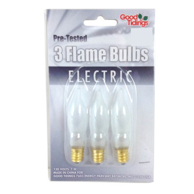 Frosted Flame bulbs - 3 pack