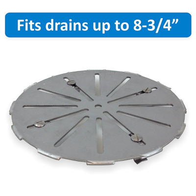 Stainless Steel Floor Drain Cover - Large Size - Adjustable