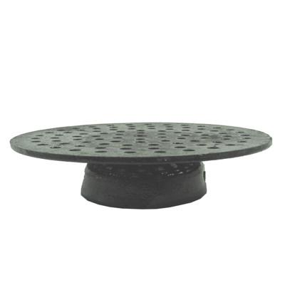 """9 3/8"""" Cast Iron Strainer With Bell"""