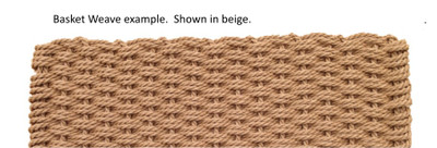 "Cape Cod Basket Weave Doormat 20""x 36"" Patio Size"