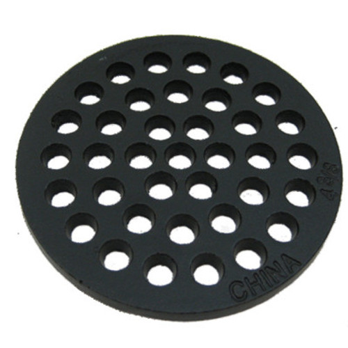 "4-3/8"" Cast Iron Grate Floor Drain Cover"