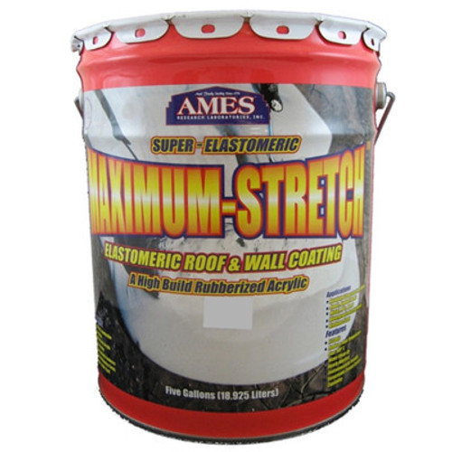 Ames Maximum-Stretch Elastiomeric Roof & Wall Coating 5-Gallon