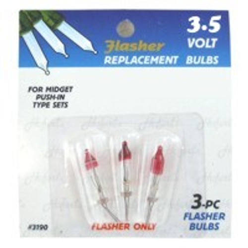 3.5 Volt FLASHER Mini Replacement Bulbs
