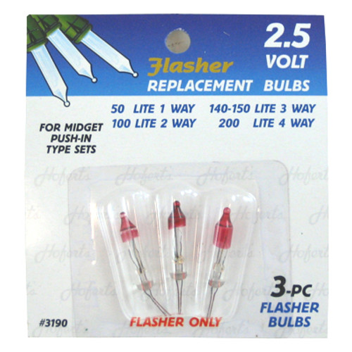 2.5 Volt FLASHER Mini Replacement Bulbs