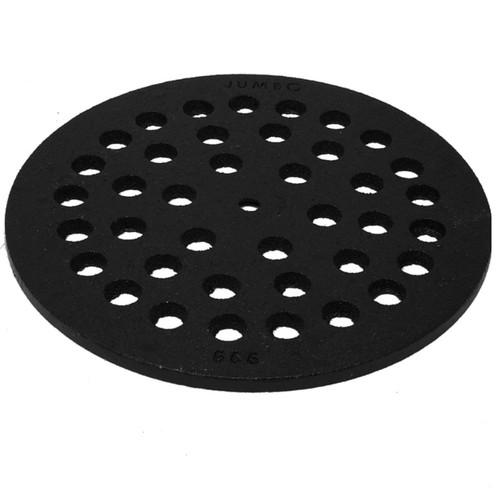 """6 3/8"""" Cast Iron Grate Floor Drain Cover - Black"""