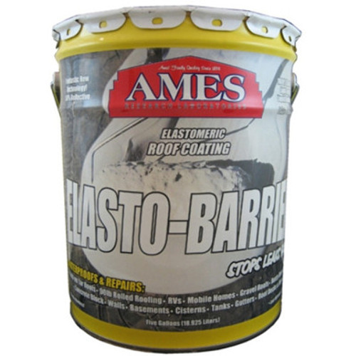 Ames Elasto-Barrier Elastic Roof Coating 5-Gallon Grey