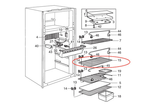 Dometic Refrigerator Top Shelf 2002652341