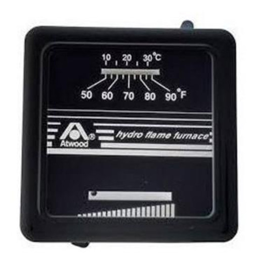 Wall Thermostat; Single Stage; For Heat Control; Not Programmable; Mechanical Readout; 12 Volt; Without Fan Speed Control; Without Fan On Mode or Auto Mode Control; Black Case