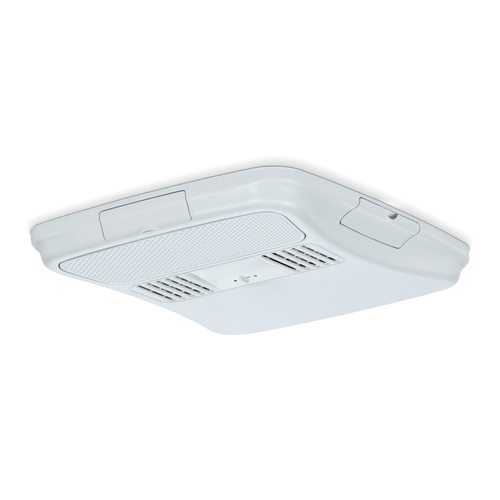 Air Conditioner Ceiling Assembly; Use With Dometic Blizzard NXT/ Brisk II/ Penguin II Low Profile Air Conditioners; Non-Ducted; Wall Mounted Thermostat Control (Sold Separately); Polar White