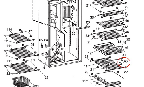Dometic Refrigerator Wire Rack Holder 2930693045