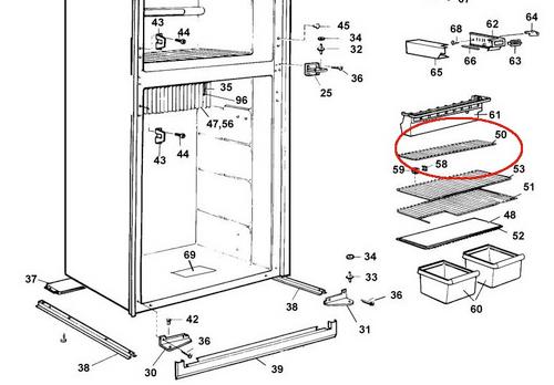 Dometic Fridge Top Shelf 2002652416 (RM 2611)