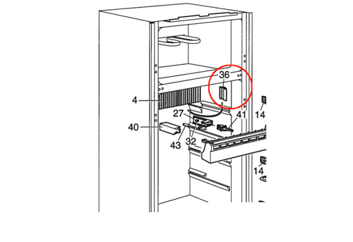 Dometic Thermistor Bracket 3851088017 (fits RM 2620)