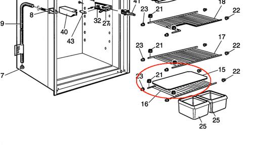 Dometic Bottom Wire Shelf 3850324025
