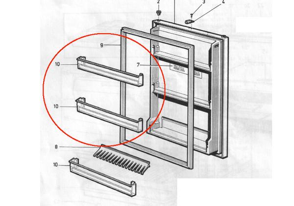 Dometic Refrigerator Door Shelf 2002261242