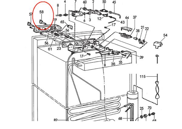 Dometic Refrigerator Knob 2932607019