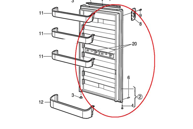 Dometic Lower Refrigerator Door LH 2932562057