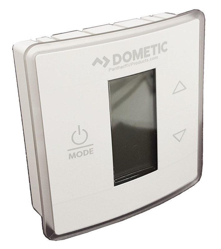 Wall Thermostat; Single Zone; Cool/ Furnace; Programmable; LCD Display; 12 Volt DC; With Low/ High/ Auto Fan Speed Control; With Auto/ On Mode Fan Control; Polar White; With Control Board